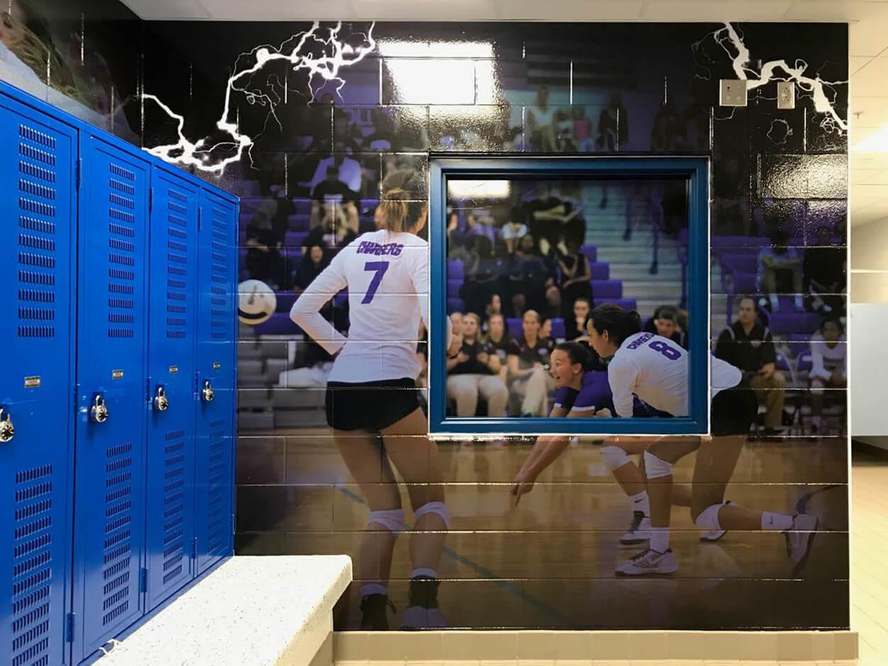 Locker Room Wall Graphics - Textured