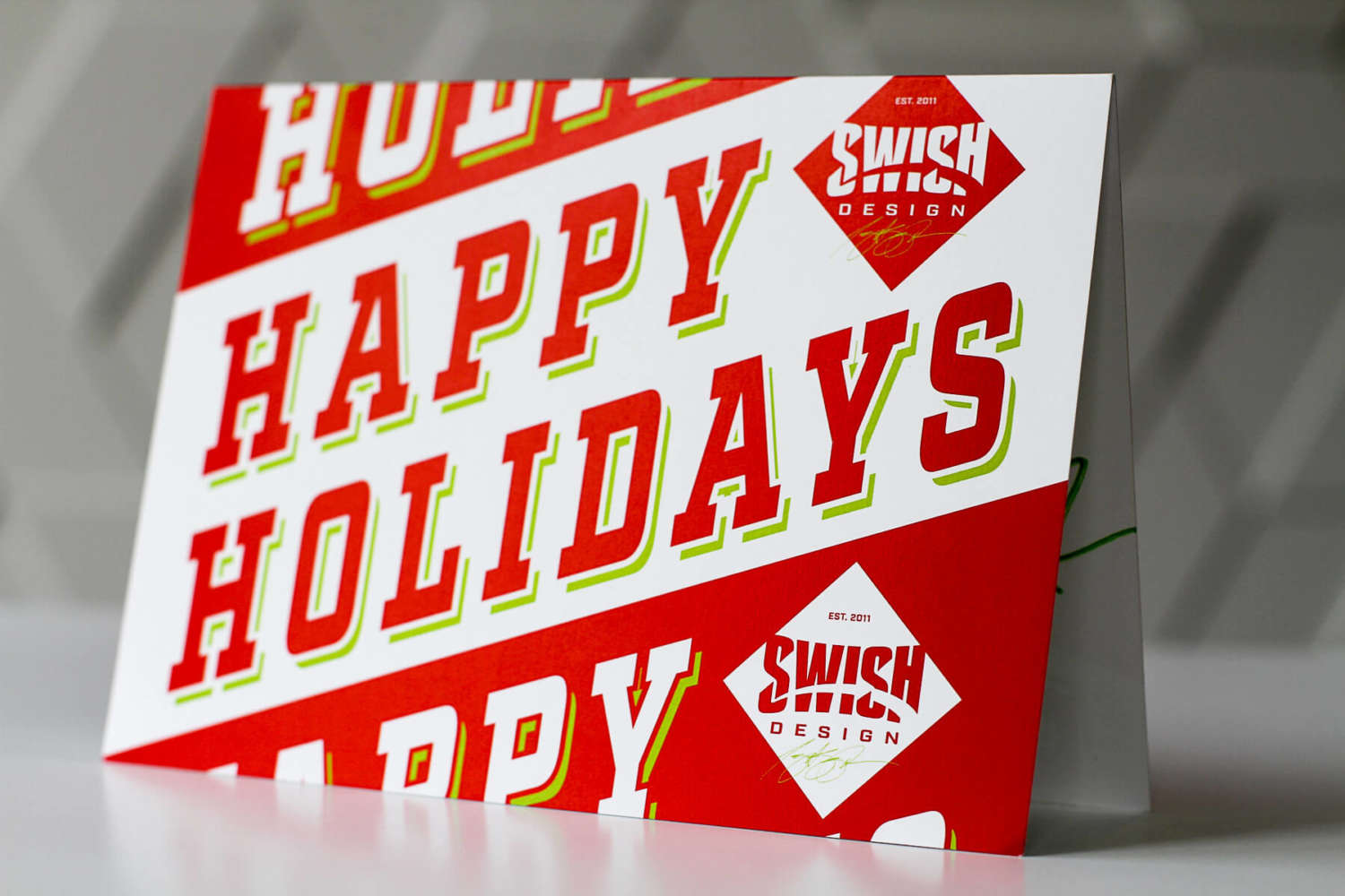 Swish Design Holiday Card 2017