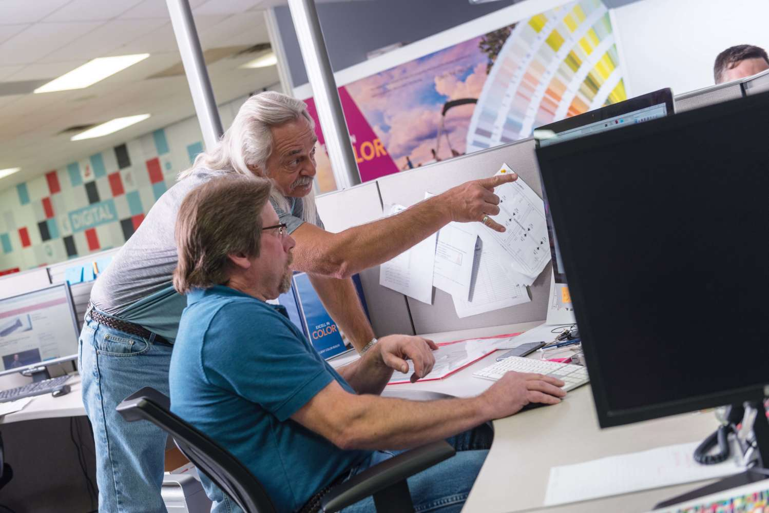Our pre-press team has a combined experience of over 75 years.
