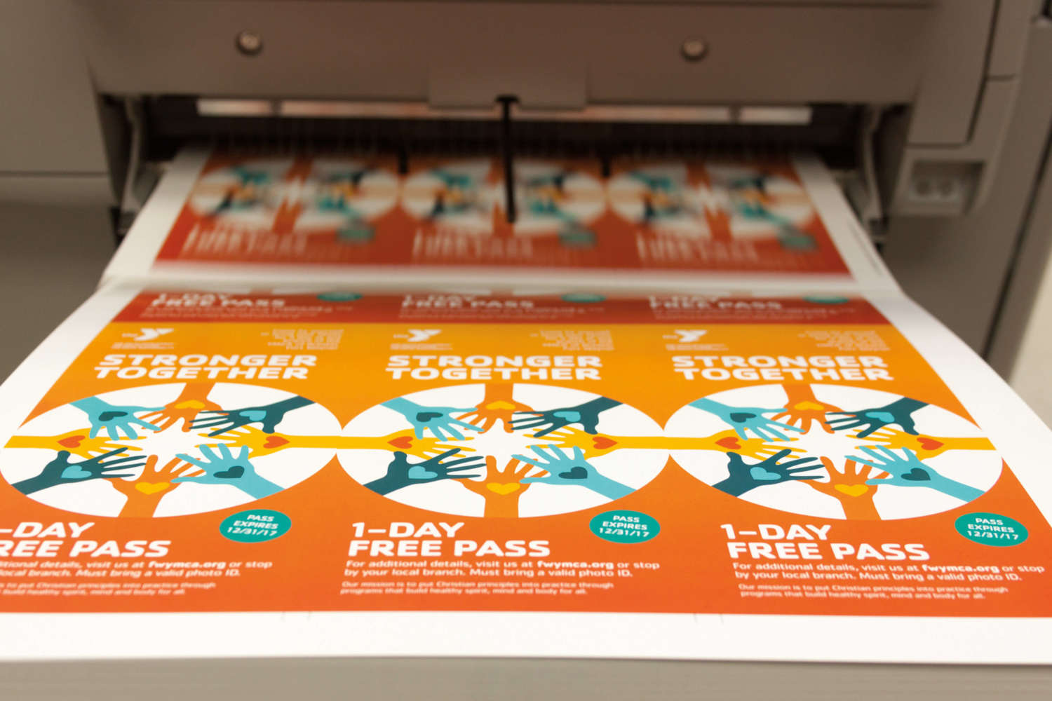 """Our VersaFire can print up to 27"""" long, enabling us to print your small-quantity trifolds."""
